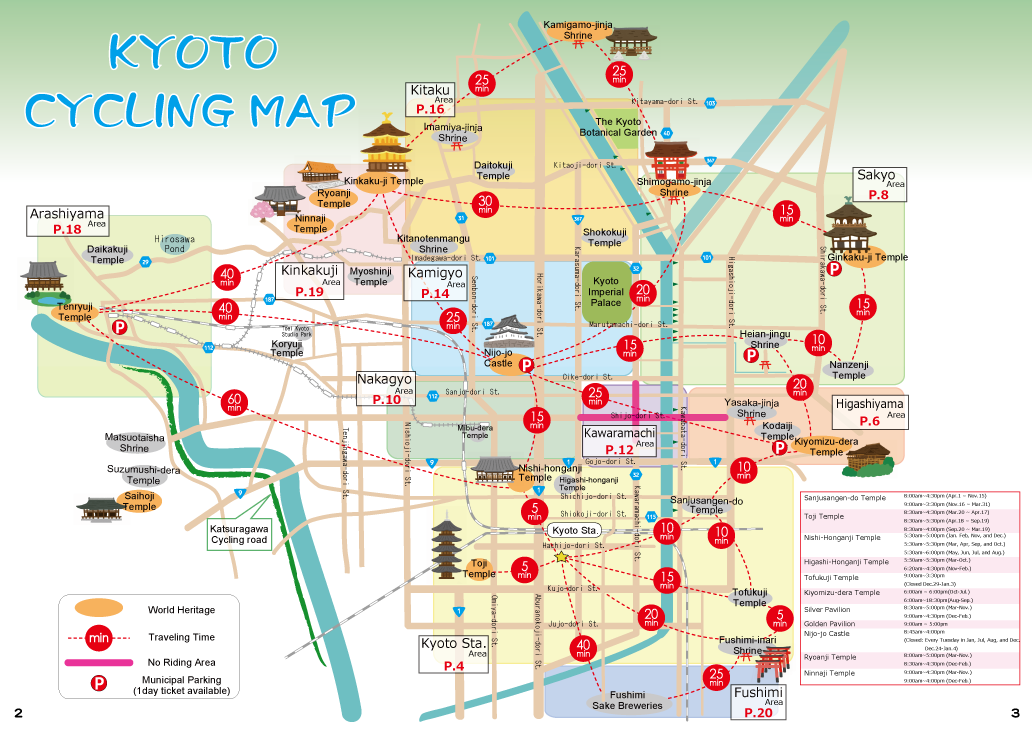 Cycling Map KYOTO ECO TRIP
