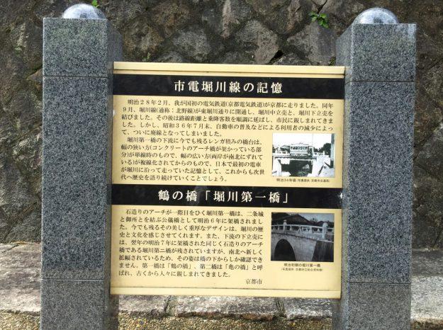 案内板には、かつての北野線の写真も掲載されていました。