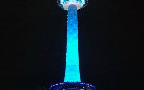 京都タワー55周年記念ライトアップ