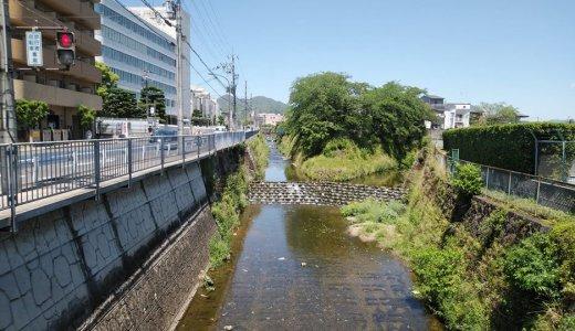 天神川と御室川の合流点(右京区)