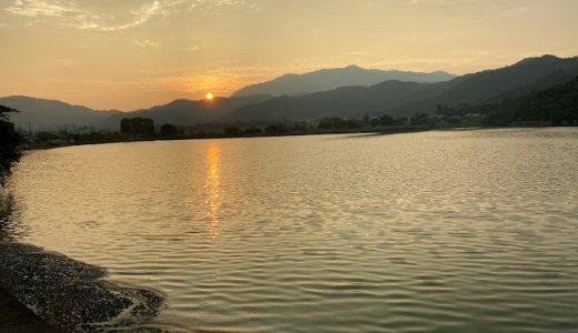 夕暮れの広沢池